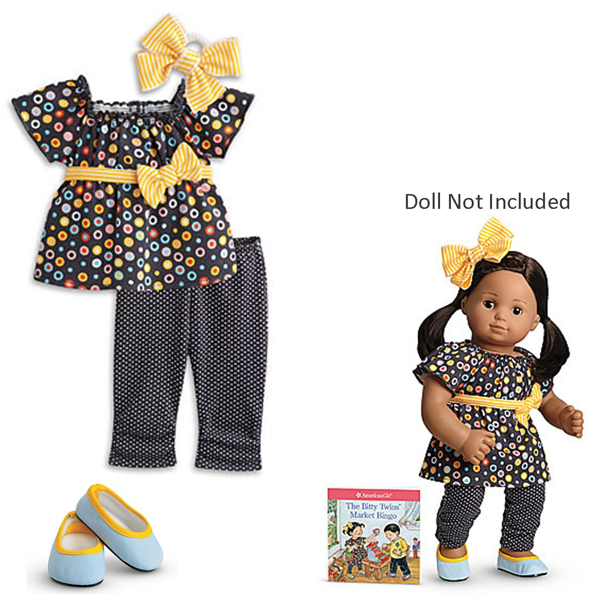 American Girl Bitty Baby Twins Polka-Dot Day Dress for 15' Dolls (Doll Not Included) by Mattel