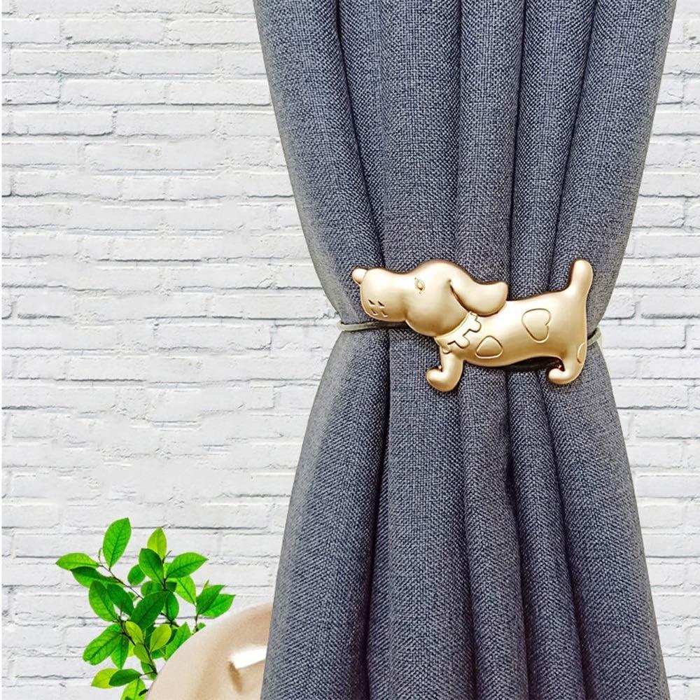 Soggiorno Curtain Tiebacks 2 Pezzi di Tieback Tenda a Forma di Cane Tendeback /& Holdbacks per la Camera da Letto Ufficio per lhome Office Decorativo