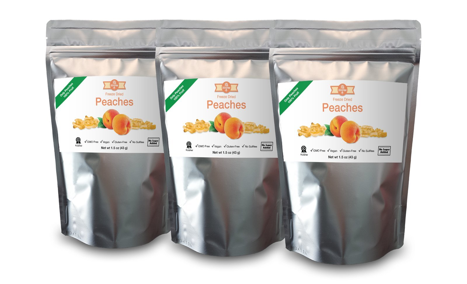 3 pack of delicious peaches