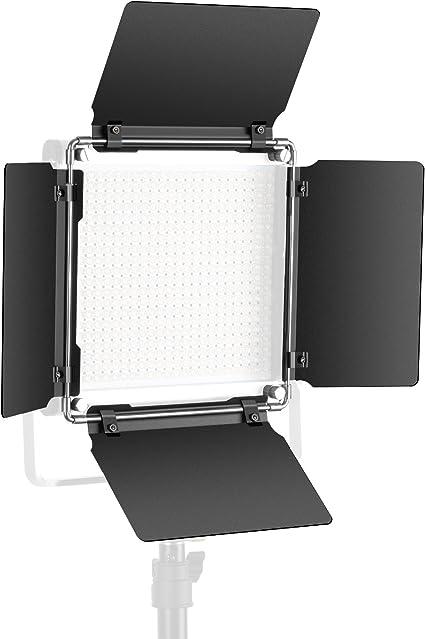 Todo para el streamer: Neewer Profesional LED Video Luz Puerta de Granero para Neewer LED Luz Panel, Construcción de Metal Sólido (Solo Puerta de Granero Incluido) (480 LED)