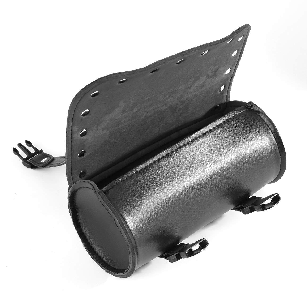 Universale in pelle PU moto con fibbie in plastica Tool Bag Bagagli Saddlebag Roll Barrel Multi-funzionale Storage Bag