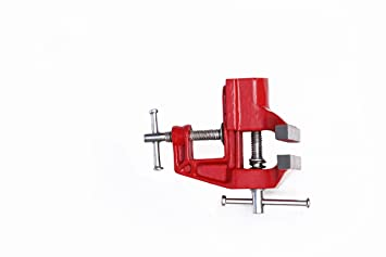 Shaks Traders Cast Iron Baby Vice- (70 mm, Red)