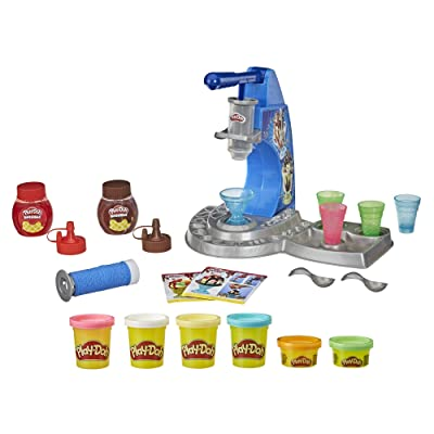 Play-Doh Kitchen Creations Drizzy Ice Cream Playset Featuring Drizzle Compound & 6 Non-Toxic Colors: Toys & Games