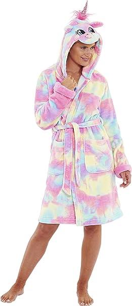 Love To Sleep Novelty Christmas Reindeer Penguin Women/'s Fleece Robe Gown Hooded