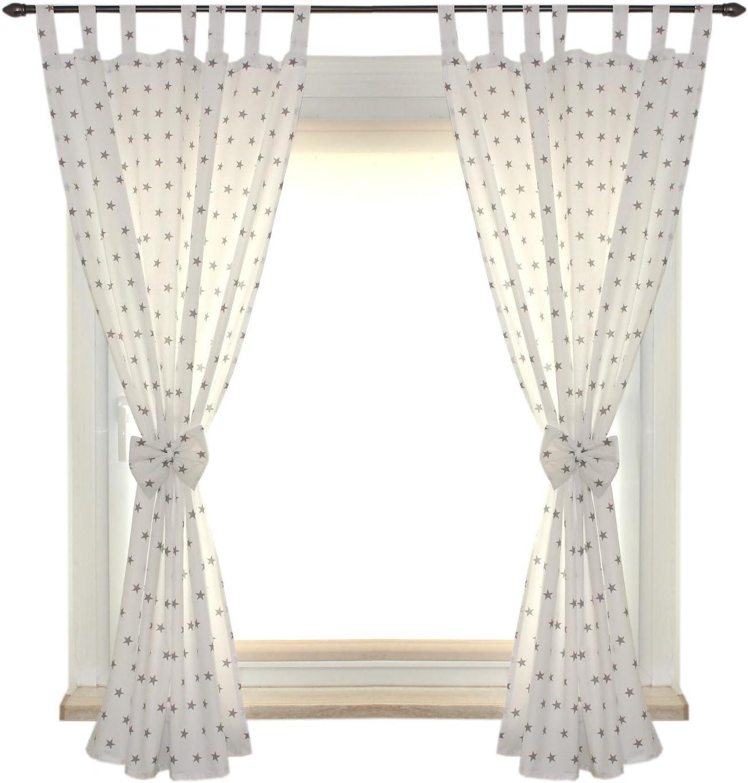 TupTam Rideaux pour Chambre denfant pour Passants 2 pcs env 155x100 cm Chiens Gris