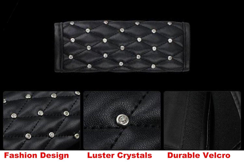 SUV Truck Crystal Rhinestone Car Seatbelt Cover for Lady Girls Car Camera Backpack Straps U/&M 2 pcs Bling Bling Auto Seat Belt Shoulder Pads Seat Belt Cover