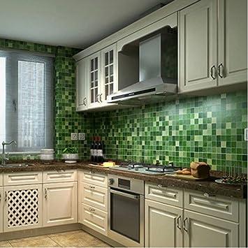 Chinatera Peel And Stick Tile Kitchen Backsplash Sticker Aluminum Foil Mural Mosaic Wall Paper Waterproof Removable