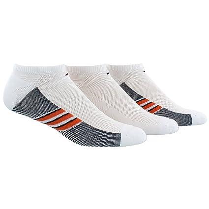 498b3526c238f adidas Men's Climacool Superlite No Show Socks (3 Pack), White/Energy Red