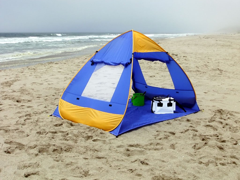 Amazon.com  Genji Sports Pop Up Family Beach Tent And Beach Sunshelter  Family Beach Cabana Tent  Sports u0026 Outdoors & Amazon.com : Genji Sports Pop Up Family Beach Tent And Beach ...
