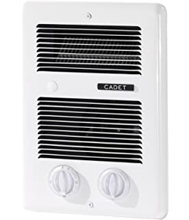 Cadet Com Pak Bath 1000W 120V/240V Best Bathroom Electric Wall Heater With  Thermostat