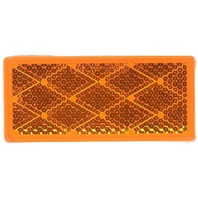 Grote 40303 Yellow Stick-On Rectangular Reflectors: Automotive