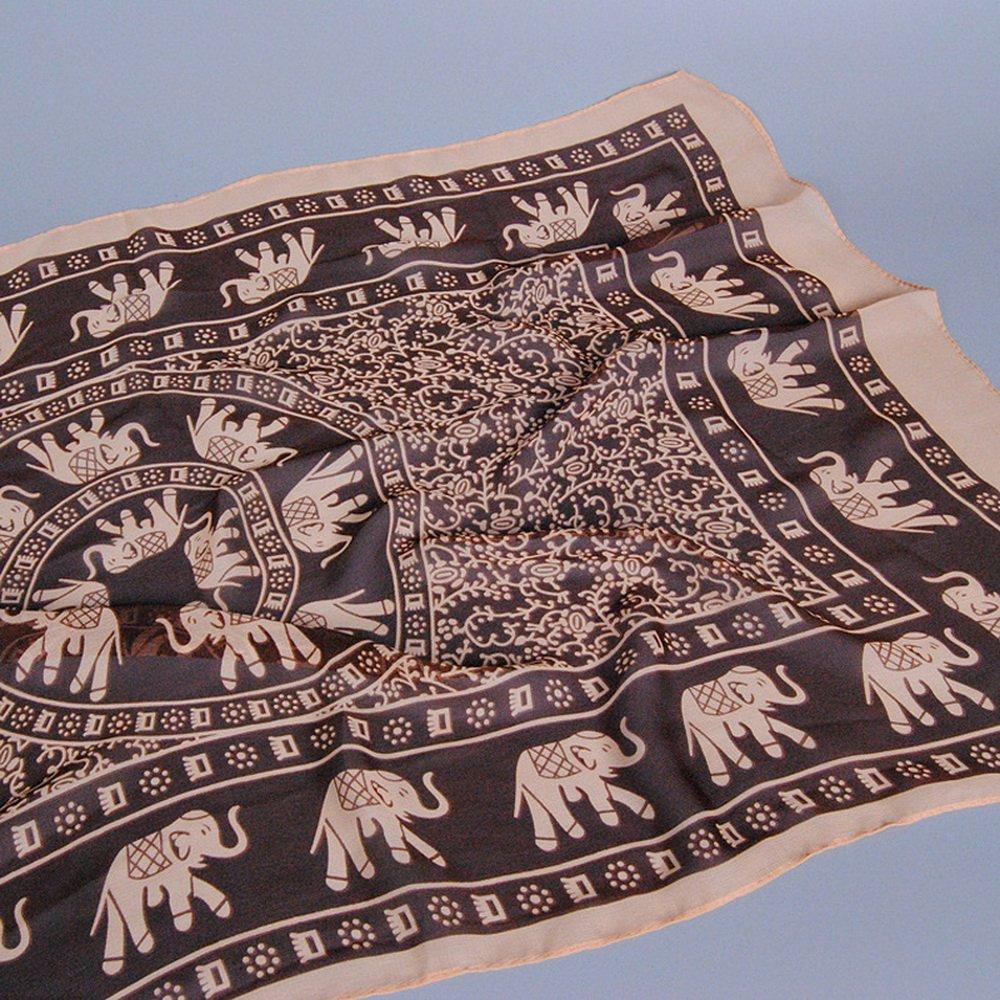 Sfit Femme Châle Echarpe Pashmina Foulard de Protection Solaire  Climatisation Motif Elephant Lam3442 75a14ff4682
