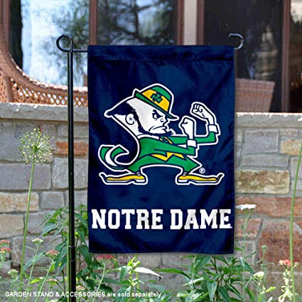 "University of Notre Dame Irish Garden Flag NCAA Licensed 11/"" x 15/"""