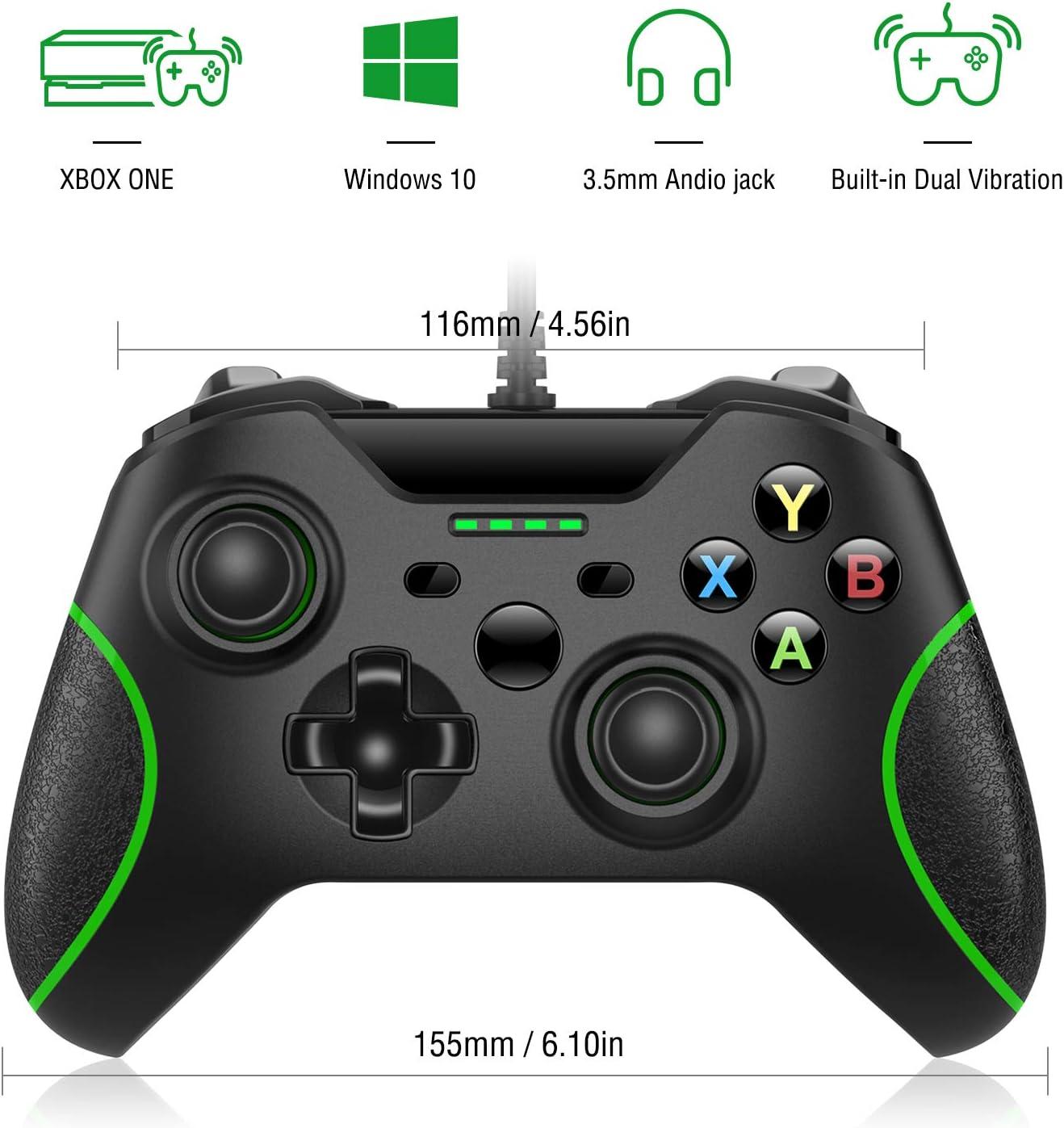 Xbox One Mando Controlador de Gamepad Alámbrico con LED Luz para ...