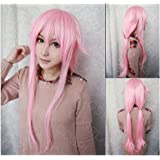 COSPLAZA Perruque Yuno Gasai Future Diary longue poudre Anime Cosplay Wig synthétique Cheveux