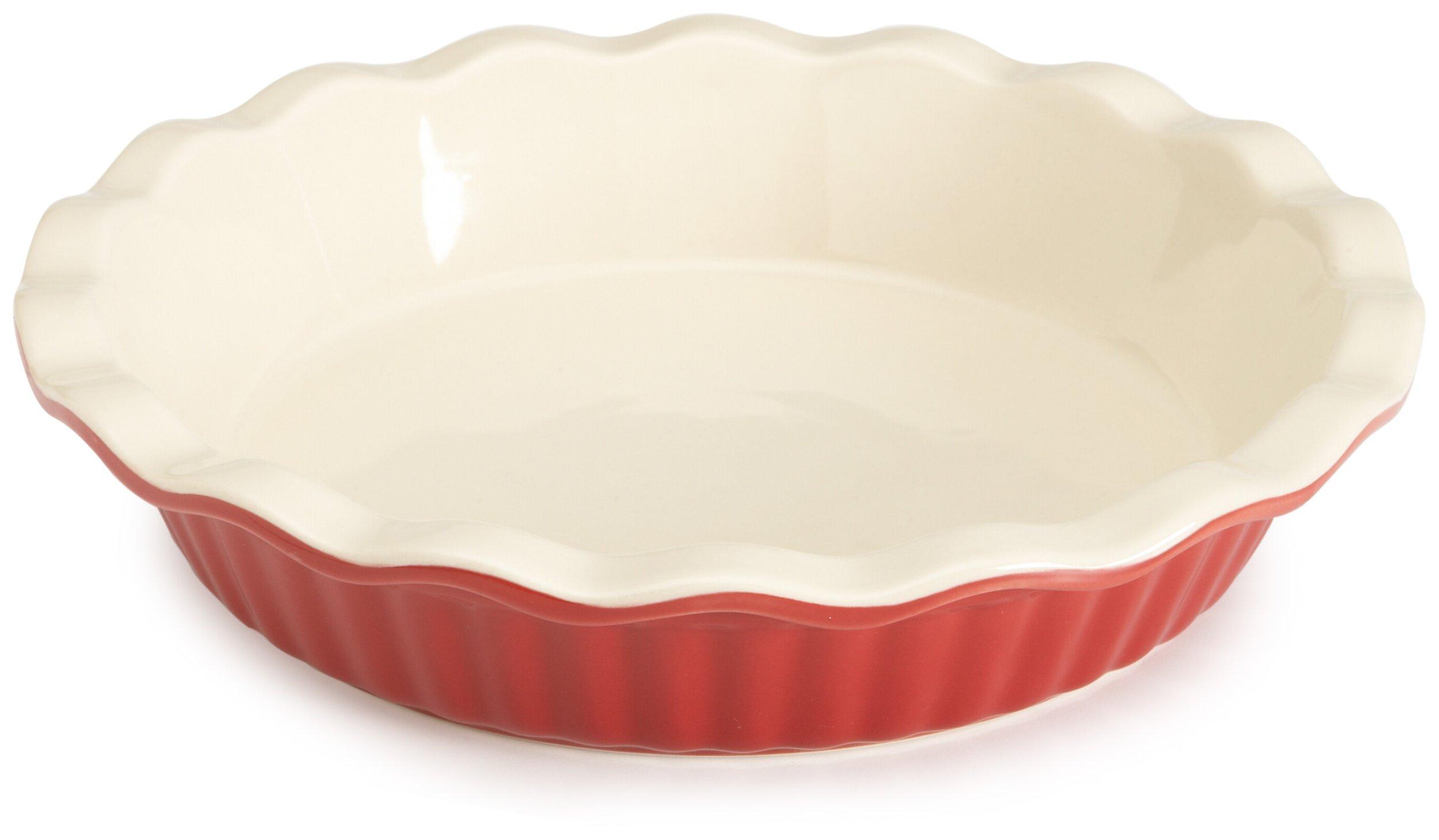 Good Cook Bradshaw International 04412 9′ RED Ceram Pie Plate by Good Cook