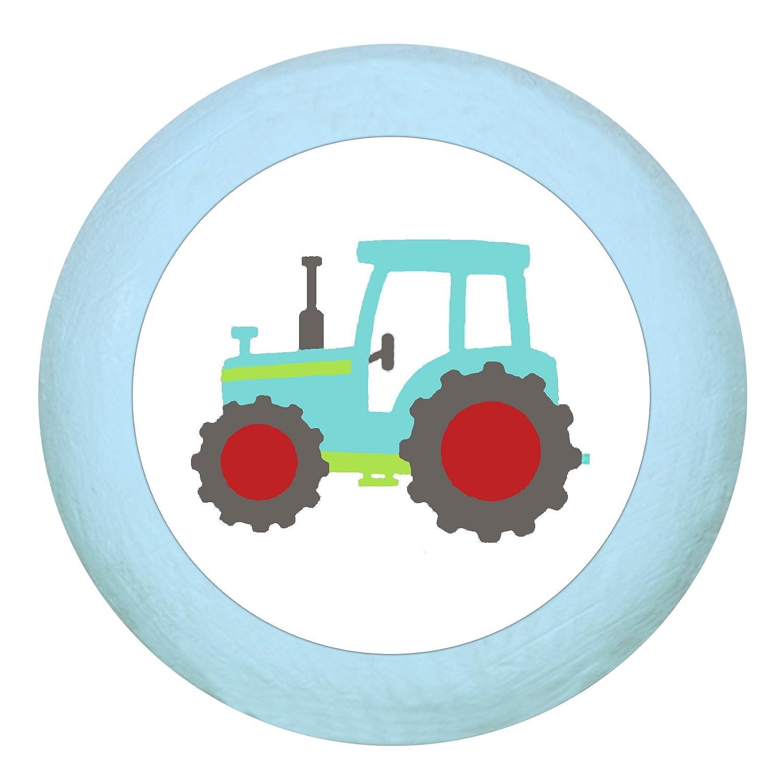 TürknaufTraktor dunkelblau Holz Buche Kinder Kinderzimmer 1 Stück Fahrzeuge Transportfahrzeuge Traum Kind