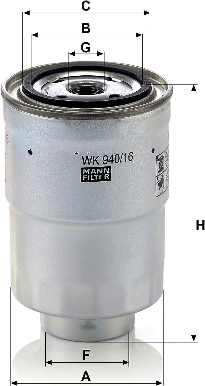 Original Mann Filter Kraftstofffilter Wk 940 16 X Kraftstofffilter Satz Mit Dichtung Dichtungssatz Für Pkw Auto