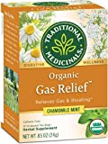 Traditional Medicinals Organic Gas Relief Digestive Tea (Pack of 6) - Relieves Gas & Bloating- 96 Tea Bags Total