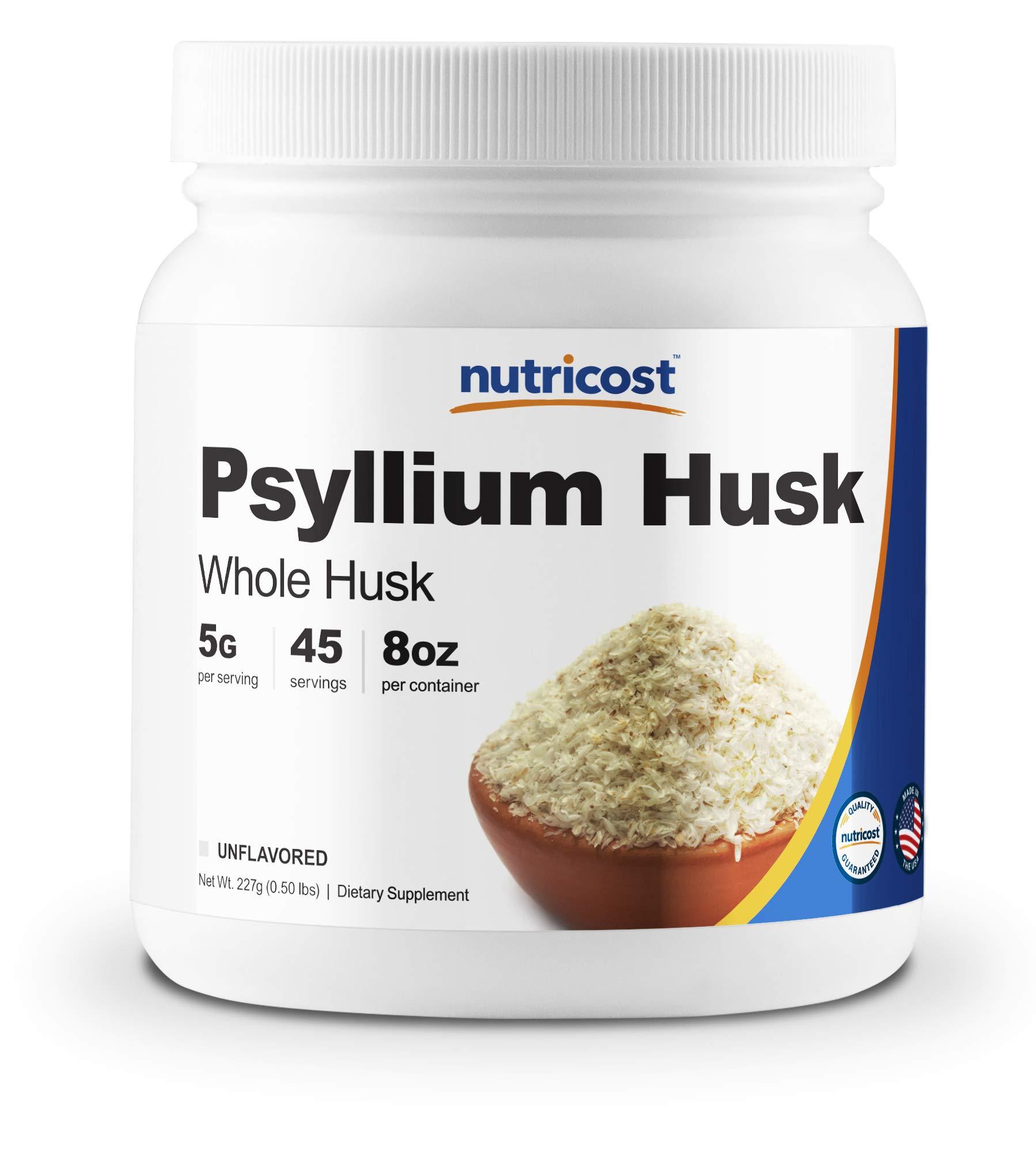 Nutricost Psyllium Whole Husk Powder (Flakes) 8oz - Gluten Free & Non-GMO by Nutricost