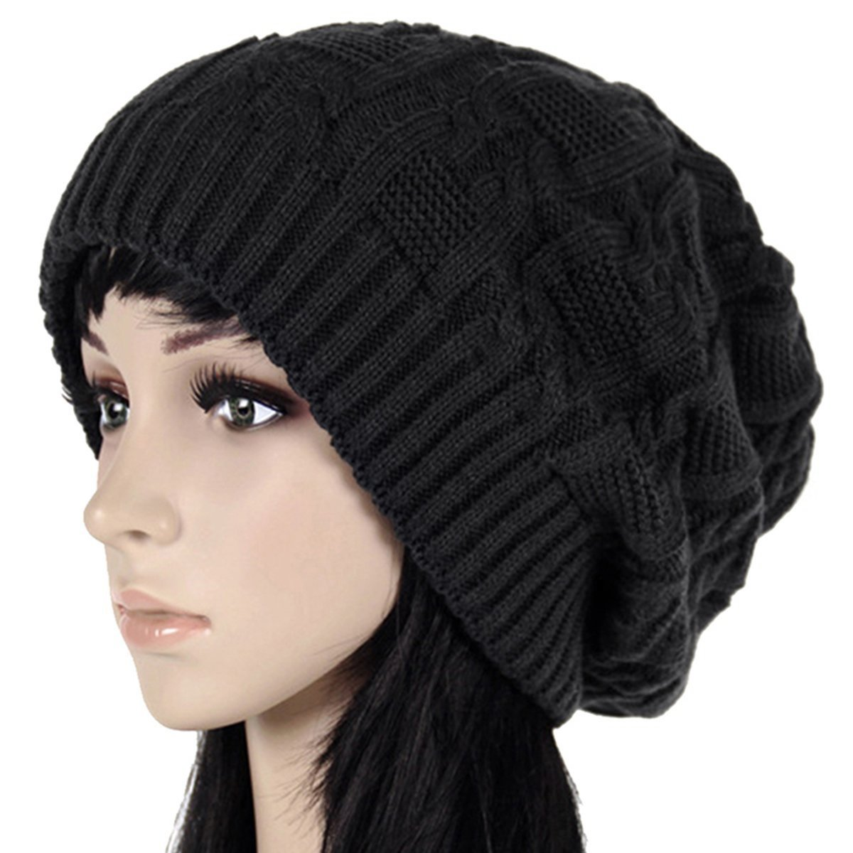 9c3dcebfa924e3 Oryer Womens Winter Knit Slouchy Beanie Baggy Warm Soft Chunky Cable Hats  at Amazon Women's Clothing store: