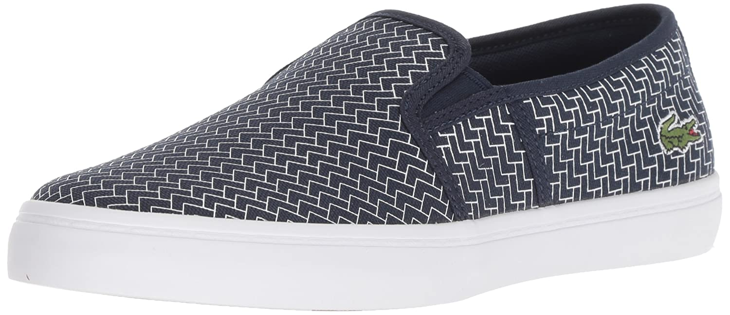 Lacoste Women's Gazon Sneaker B077Y8FFRN 10 M US|Navy White Canvas