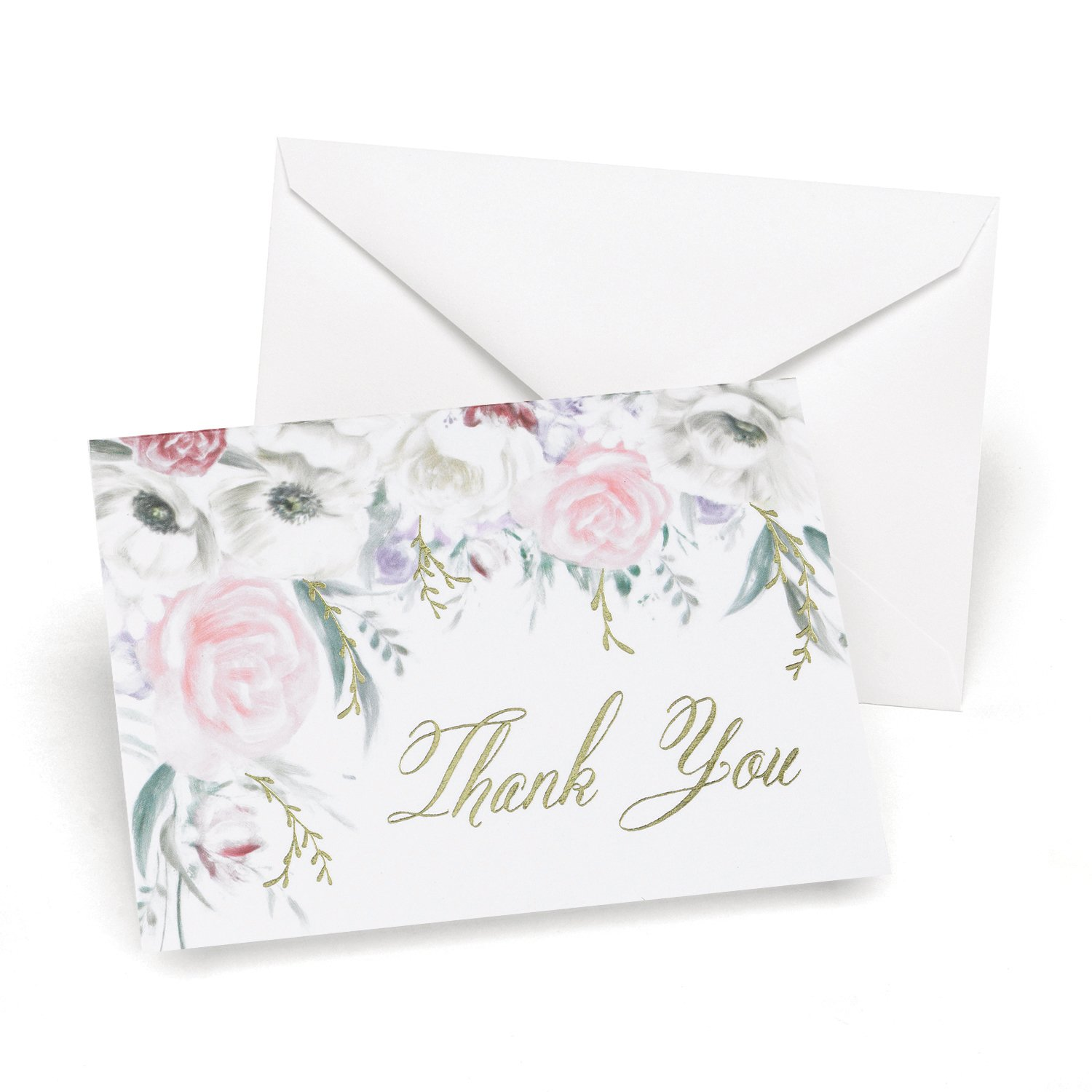 3pk Ethereal Floral Thank You-Thank You Notes