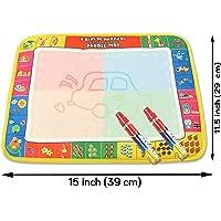 Aqua eau dessin Mat 2 ans Plus de dessin éducatif 4 couleurs avec Doodle Magic Pen avec Animal, Alphabet et des nombres 390 x 290 mm