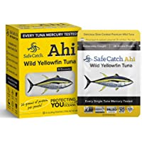 Safe Catch Ahi, Wild Yellowfin Tuna, Lowest Mercury Wild Tuna, Keto, Paleo, 8 Count, 3oz Pouch