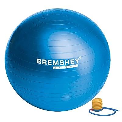 Bremshey 17AMZFU134 Ballon de Gym 55 cm, Bleu