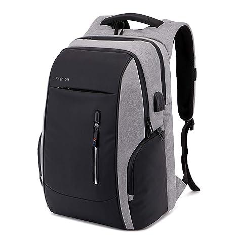 d7a228d416 Xnuoyo Laptop Zaino Antifurto, 17.3 Pollici Impermeabile Zaino Porta PC con  Porta USB di Ricarica