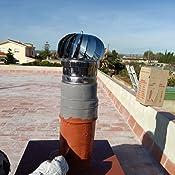 Einside AISI304 - Extractor de humo giratorio de viento, acero ...