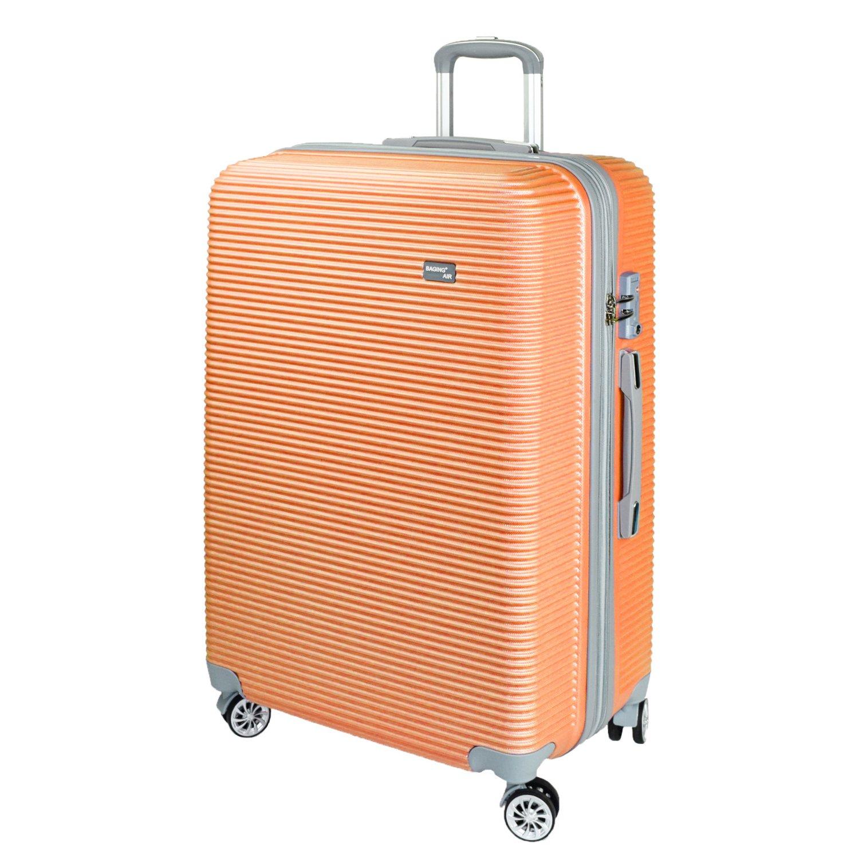 【神戸リベラル】 BAGING 軽量 拡張ファスナー付き S,M,Lサイズ スーツケース キャリーバッグ 8輪キャスター TSAロック付き B077ZXRLZC Lサイズ(長期用 85/95L)|オレンジ オレンジ Lサイズ(長期用 85/95L)