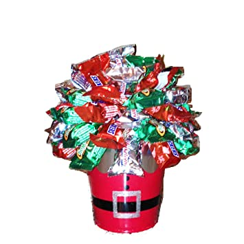 christmas snickers candy bouquet - Christmas Candy Bouquet