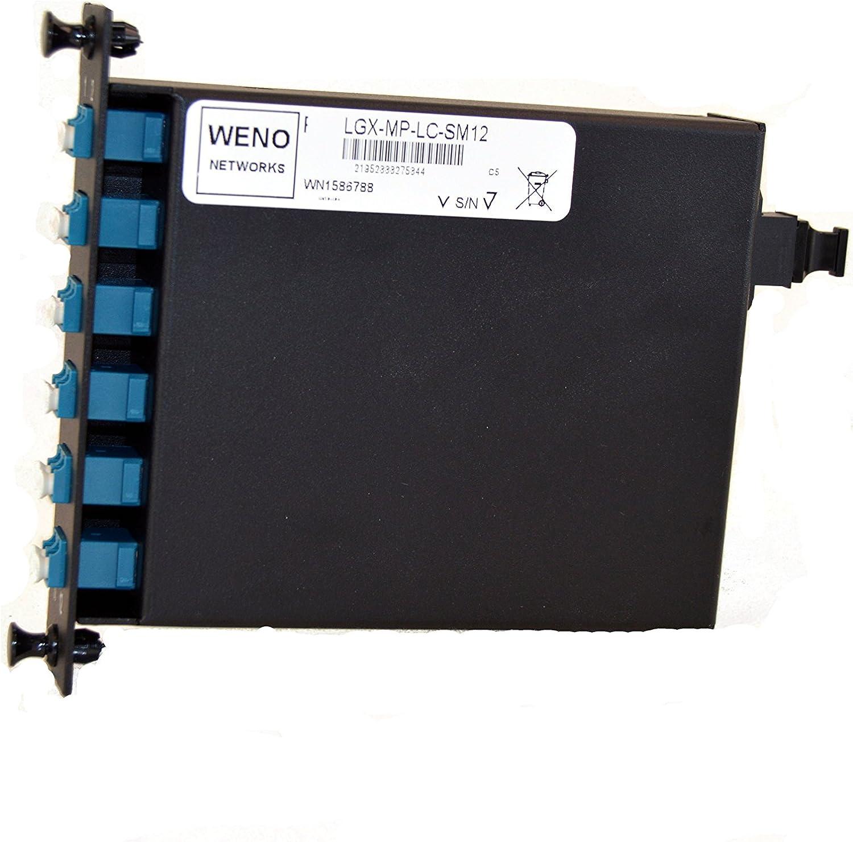 Weno Networks MPO to LC 40gb Fiber Optic LGX Cassette 12 CORE Single Mode 9//125 Elite
