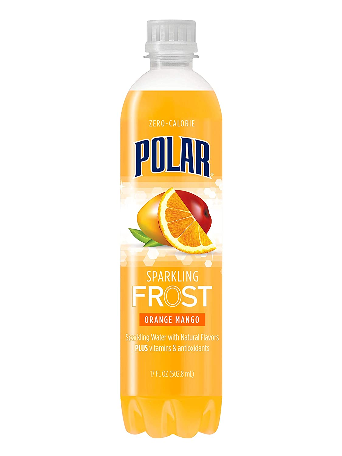Polar Beverages Frost Sparkling Water, Orange Mango, 17 Fluid Ounce (Pack of 12)