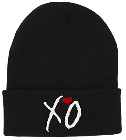 Image Unavailable. Image not available for. Color  Winter Warm Knit Black  XO Beanie Hat Men Women Letter Beanie f15c315af15e