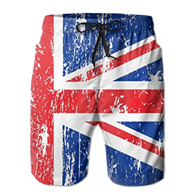 7803ee058b07b Image Unavailable. Image not available for. Color: Uk Flag Stock Vector Union  Jack Flag Men's Novelty Print Summer Beach Short Board Shorts Swimming