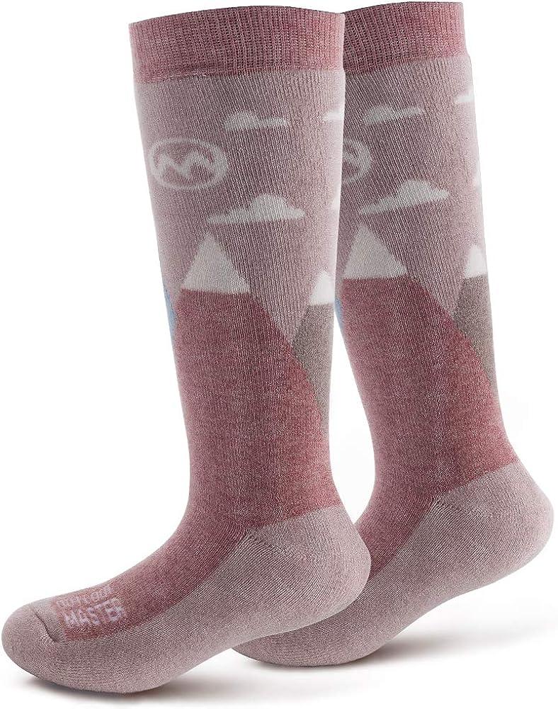 OutdoorMaster Kids Ski Socks - Merino Wool Blend, OTC Design w/Non-Slip Cuff : Sports & Outdoors
