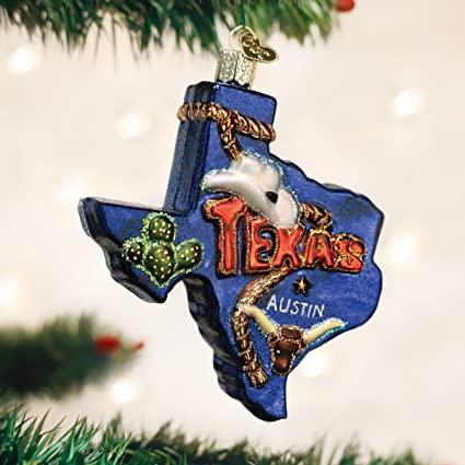 old world christmas ornaments state of texas glass blown ornaments for christmas tree - Texas Christmas Ornaments
