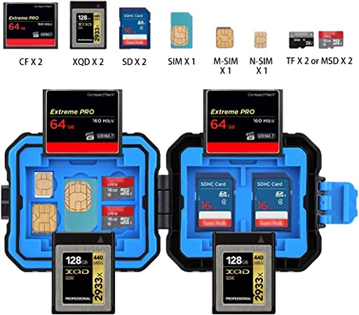 Puluz tarjetas de memoria Micro SD CF Case impermeable soporte de tarjeta TF Stocker St E0D5