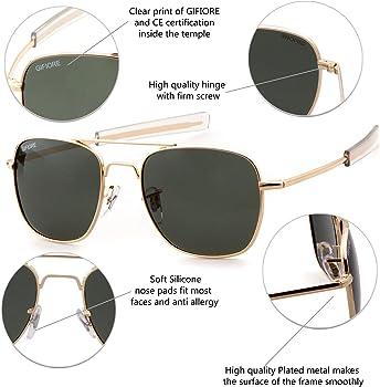 5cdf7e7ab Amazon.com: Aviator Sunglasses Polarized For Men Women Square Mirror ...