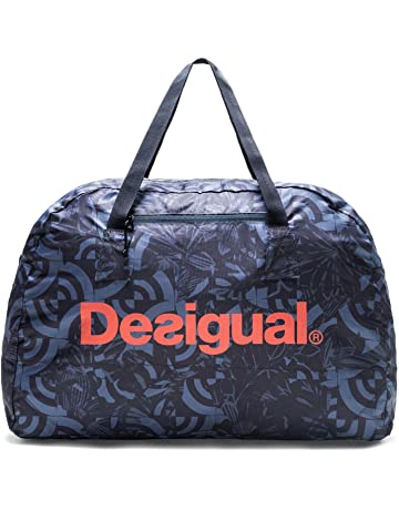 Desigual Packable Gym Bag Geo Patch Azul Furgon