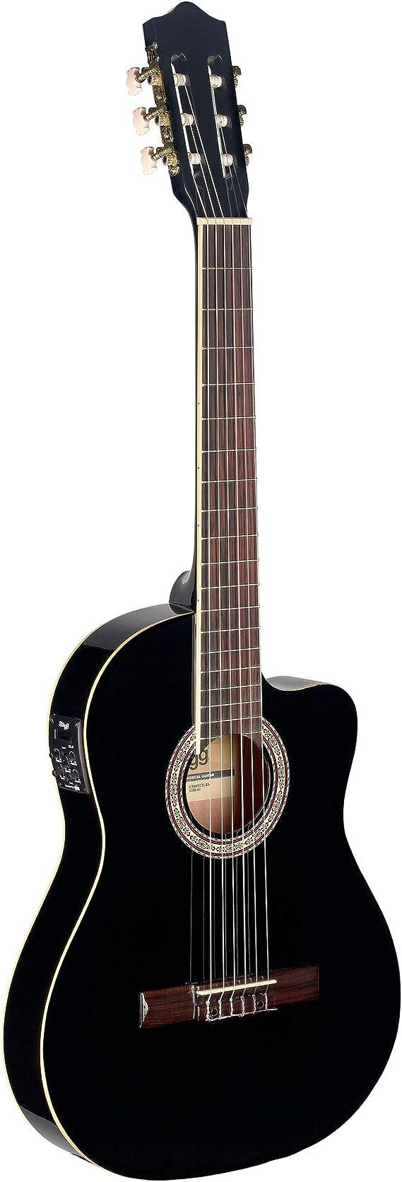 Stagg Electroacústica C546TCE BK guitarra clásica - negro: Amazon ...