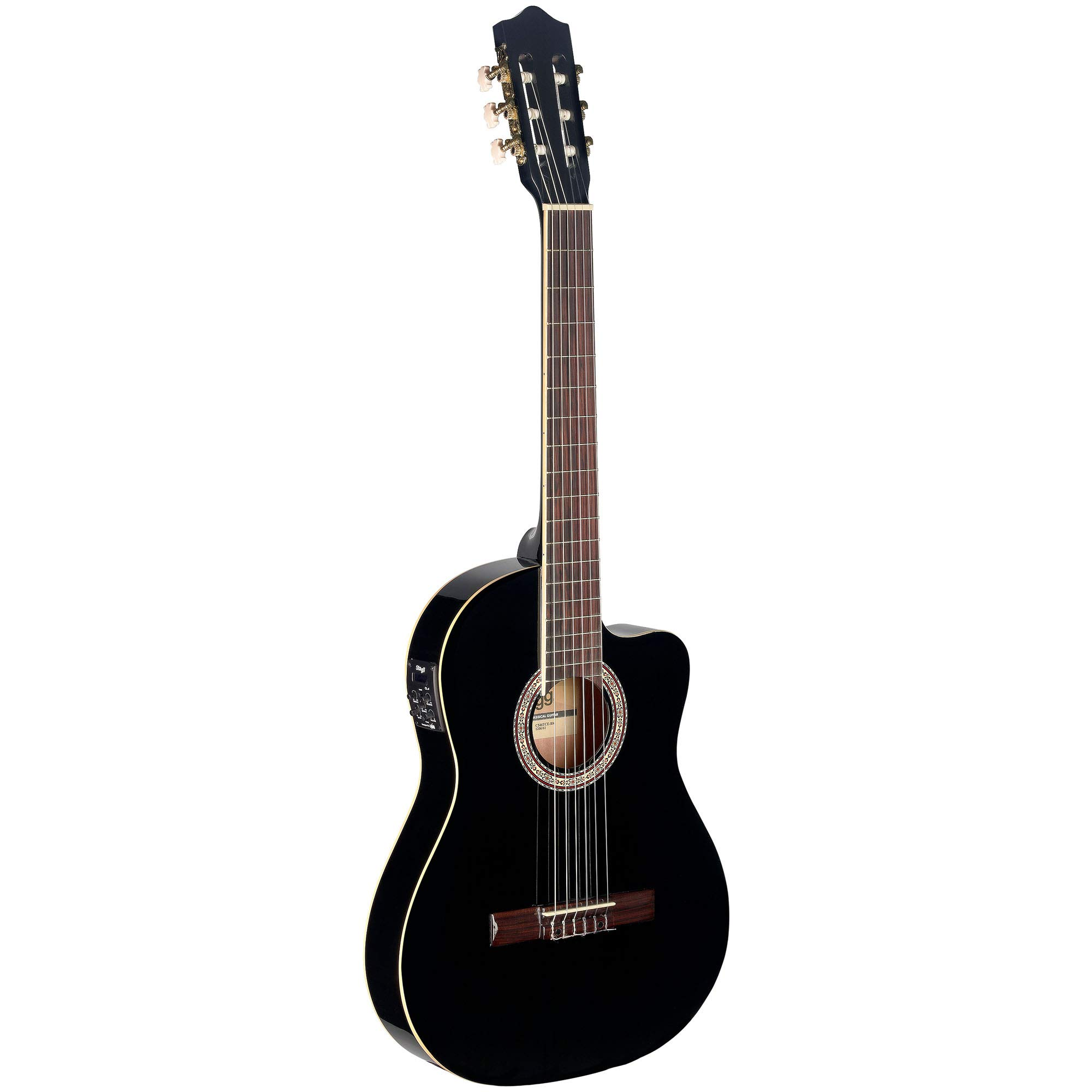 Stagg Electroacústica C546TCE BK guitarra clásica - negro product image
