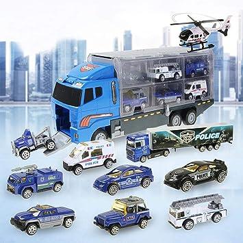 Amazon.com: Juego de juguetes para coche 10 en 1, camión de ...