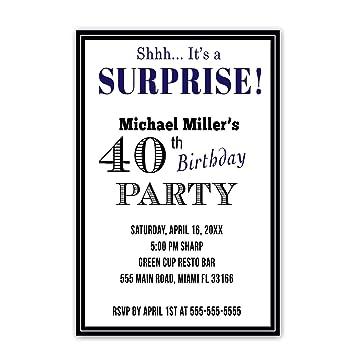 30 invitaciones personalizable Adultos fiesta de cumpleaños ...