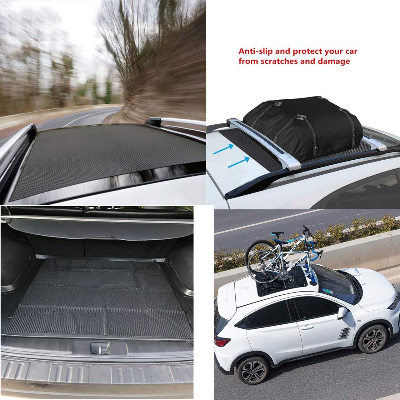RUNMIND Car Roof Cargo Protective Mat, Anti-Slip Rooftop Rack Bag Pad Work with Roof Rack Crossbar Basket Roof Box Bag Luggage Carrier for Truck SUV Car Van Sedan(39''x36'')