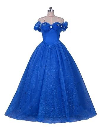 7b284a0c57 LORIE Royal Blue Prom Party Dress Off Shoulder Princess Long Graduation  Quinceanera dresses( Blue