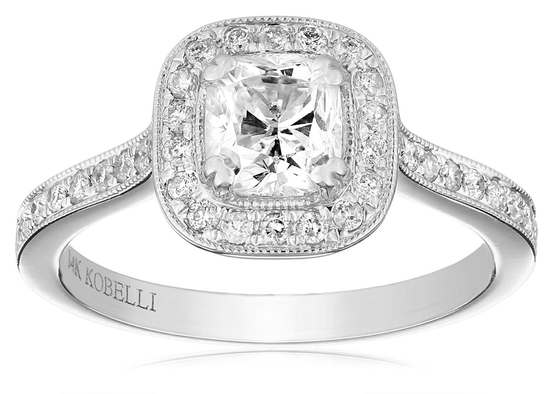 Kobelli 1 1 4 cttw Cushion Cut Diamond 14k Gold Engagement Ring